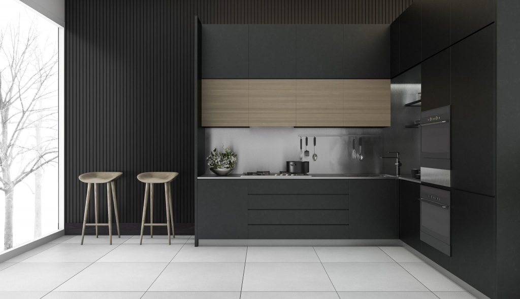 black kitchen streamlined