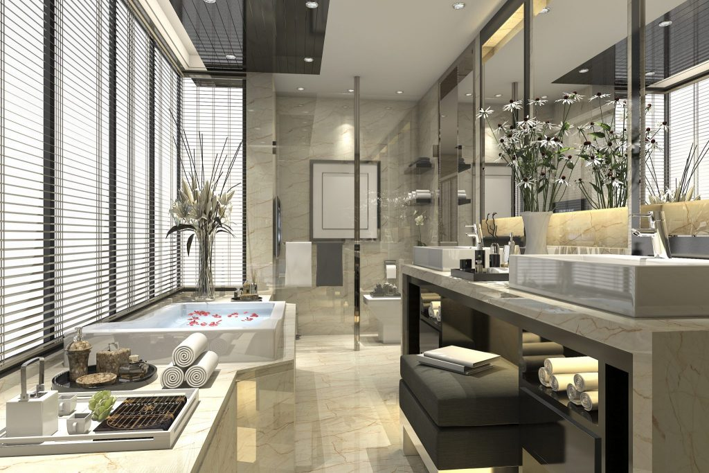 cad long bathroom