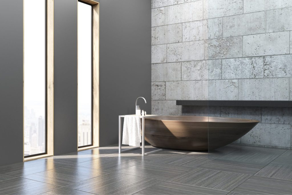 simple bath tub high rise